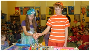 Fifth Grade Students recruit and help younger students