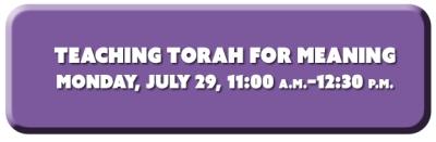 Teacihng Torah for Meaning
